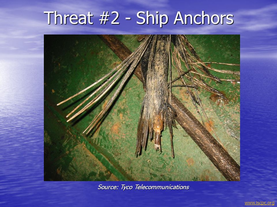 Threat #2 - Ship Anchors Source: Tyco Telecommunications