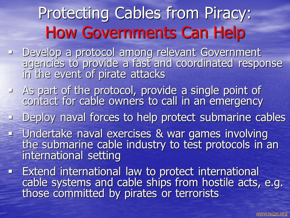Protecting Cables from Piracy: How Governments Can Help