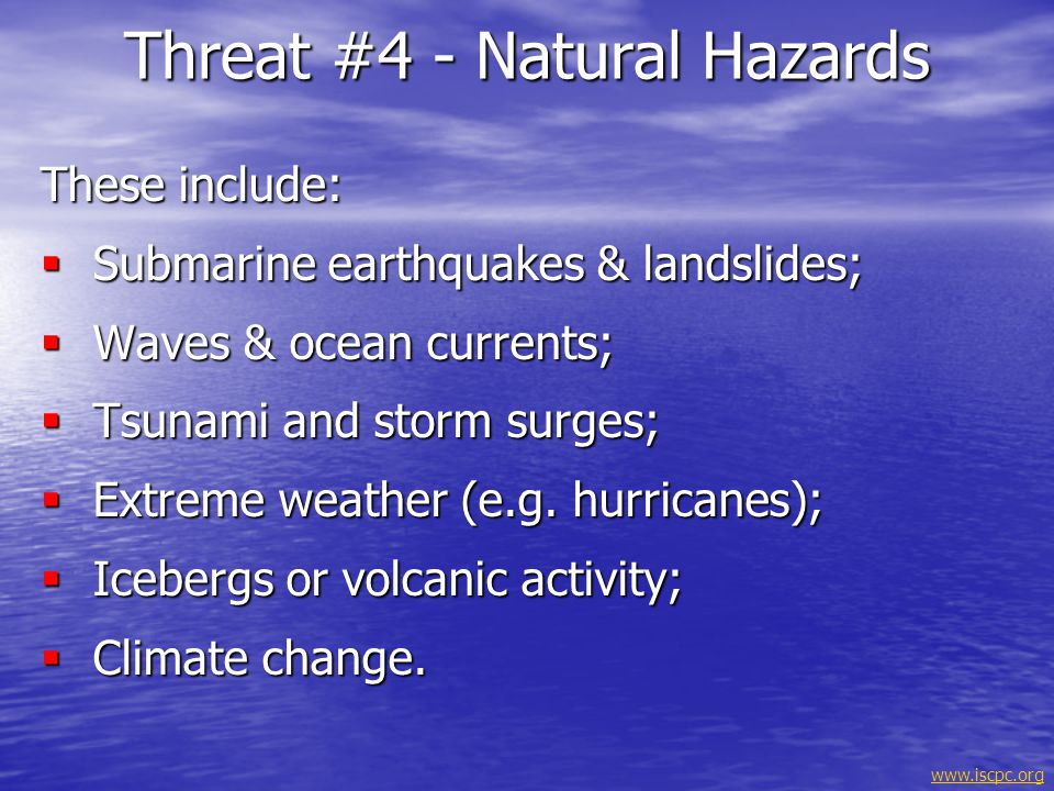 Threat #4 - Natural Hazards
