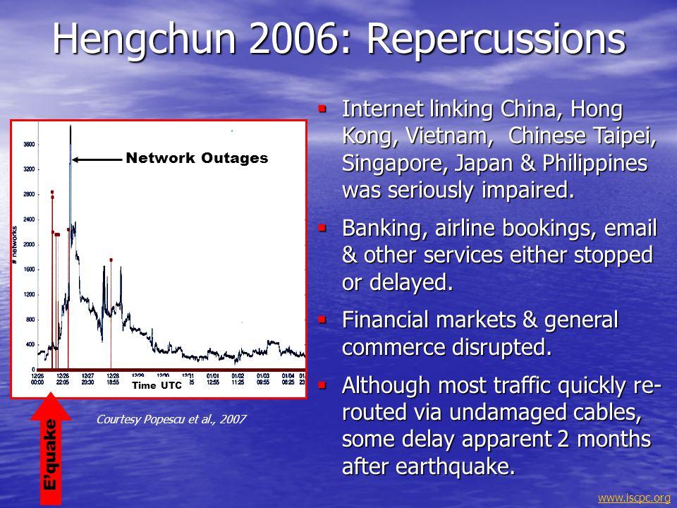 Hengchun 2006: Repercussions