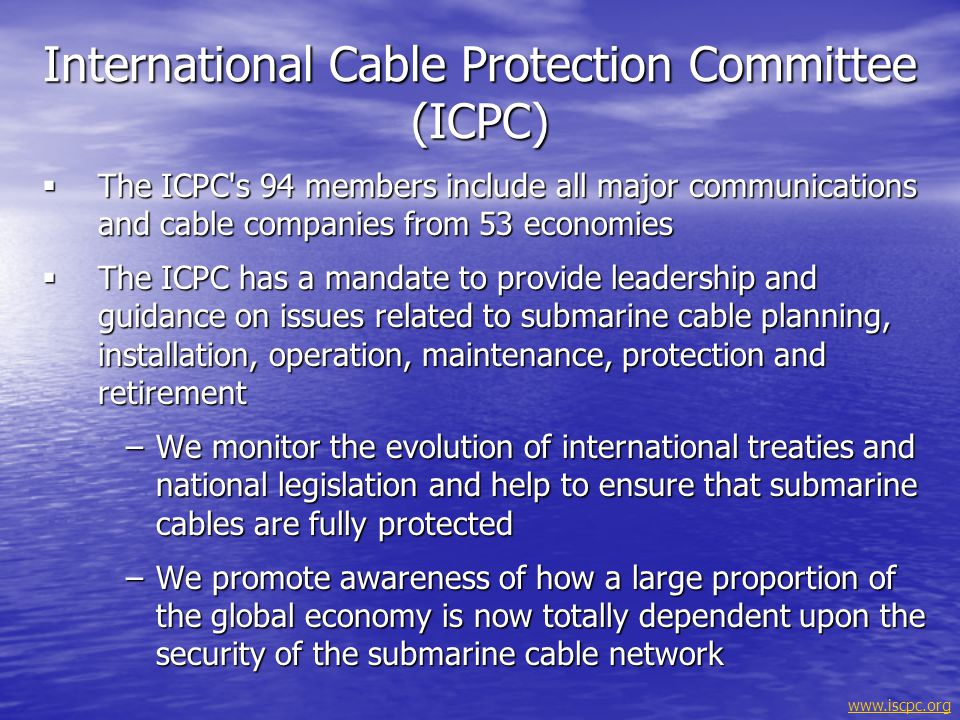 International Cable Protection Committee (ICPC)