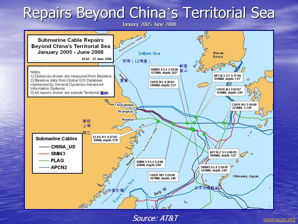 Repairs Beyond China's Territorial Sea January 2005-June 2008