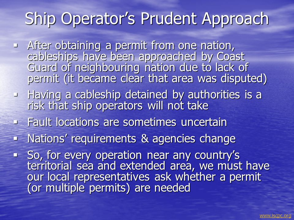Ship Operator's Prudent Approach