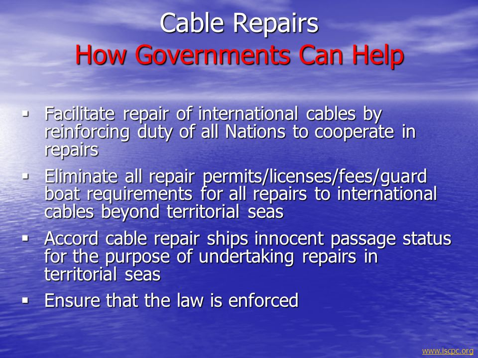 Cable Repairs How Governments Can Help