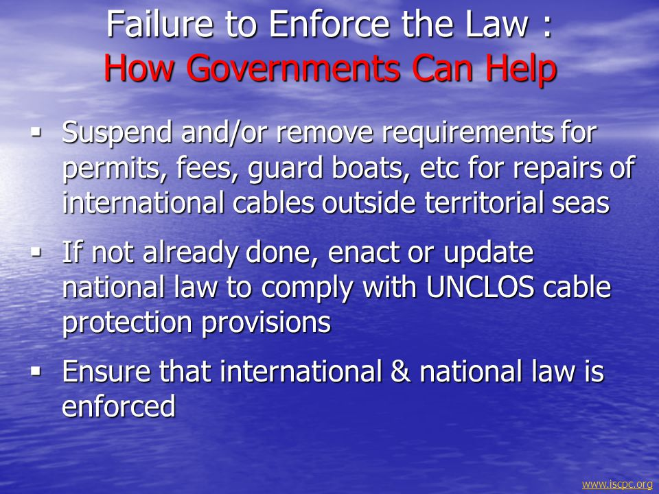 Failure to Enforce the Law : How Governments Can Help