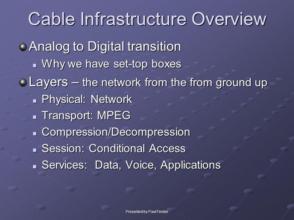 Cable Infrastructure Overview