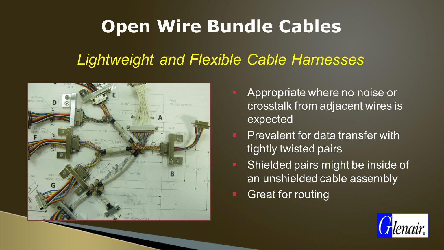 Open Wire Bundle Cables