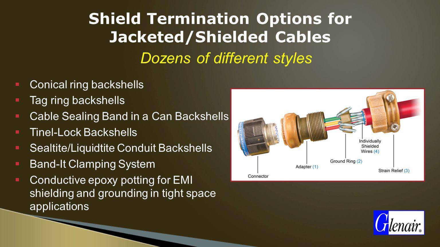 Shield Termination Options for Jacketed/Shielded Cables