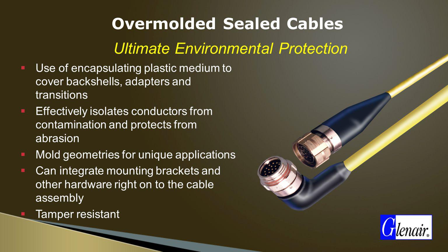 Overmolded Sealed Cables