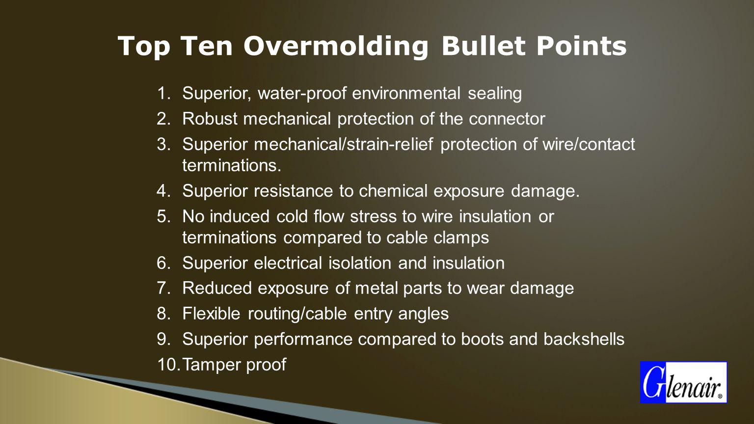 Top Ten Overmolding Bullet Points