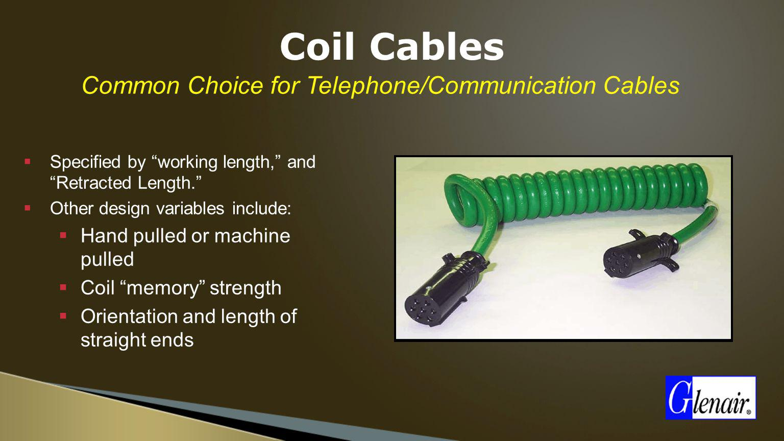 Common Choice for Telephone/Communication Cables