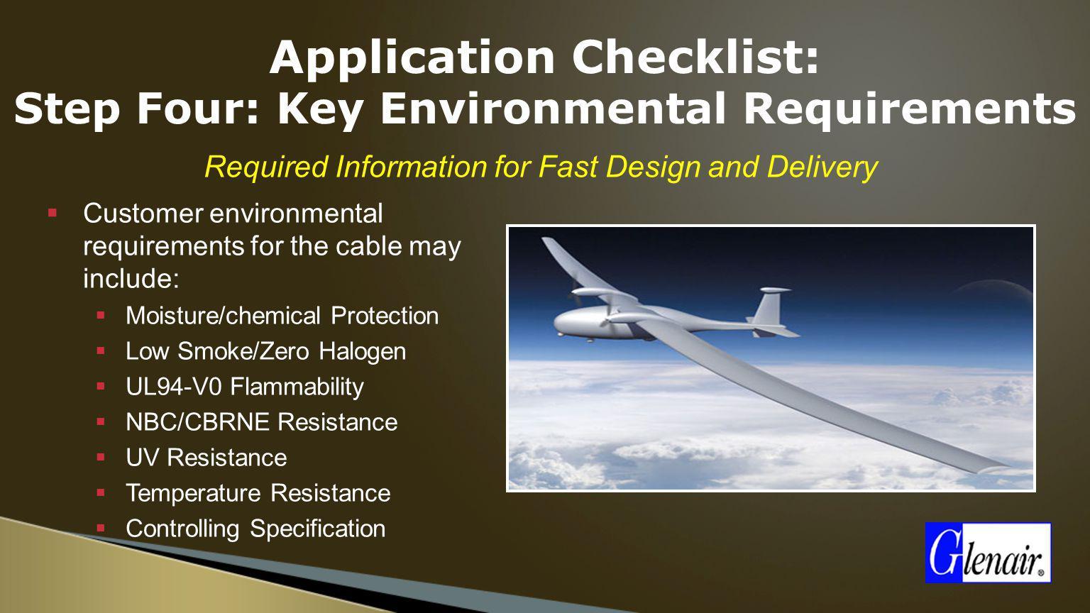 Application Checklist: Step Four: Key Environmental Requirements
