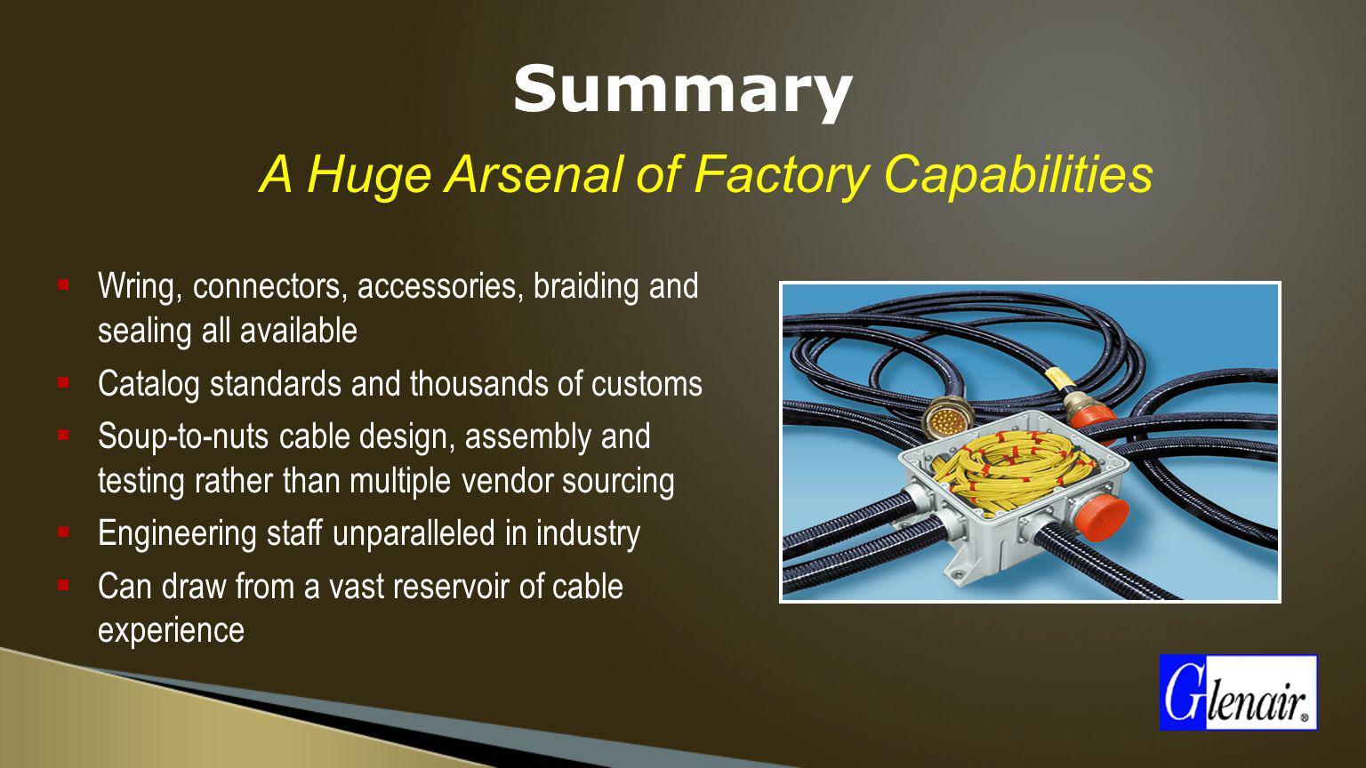 A Huge Arsenal of Factory Capabilities
