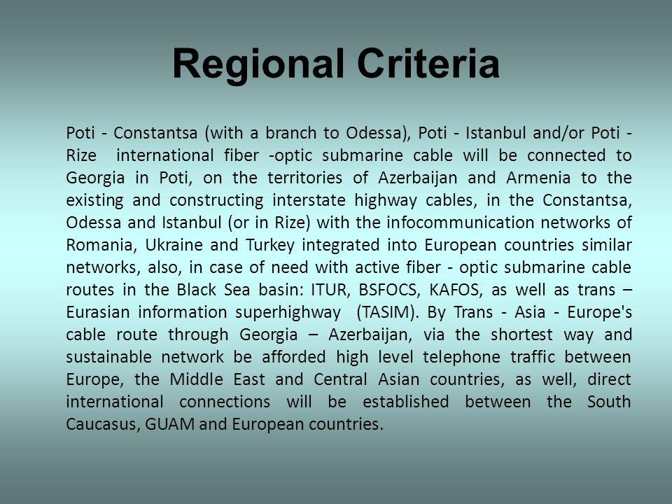 Regional Criteria