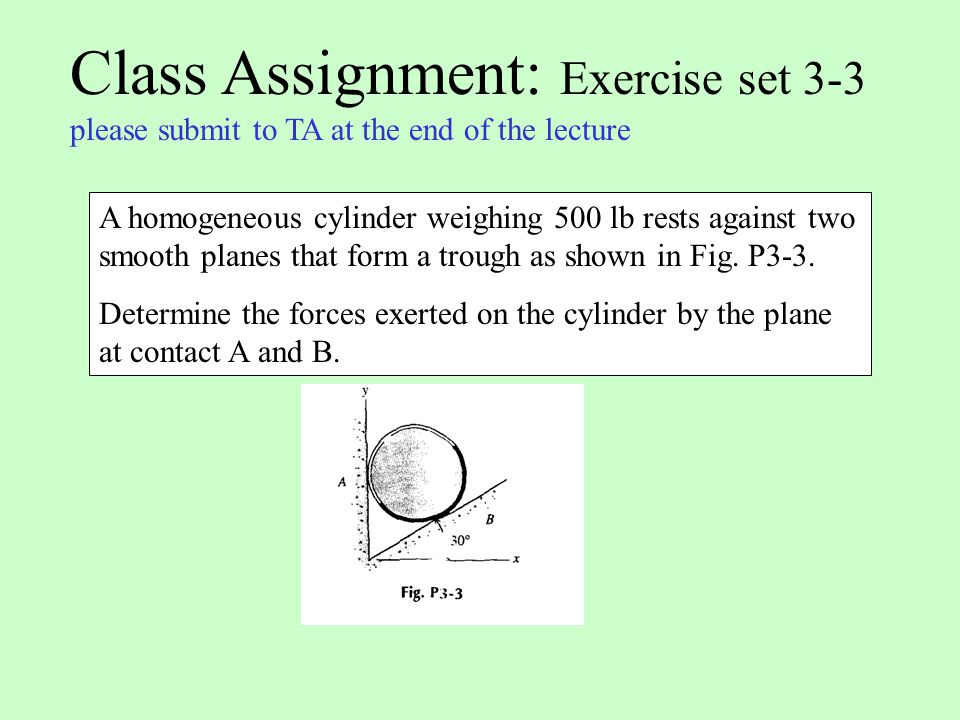 Class Assignment: Exercise set 3-3