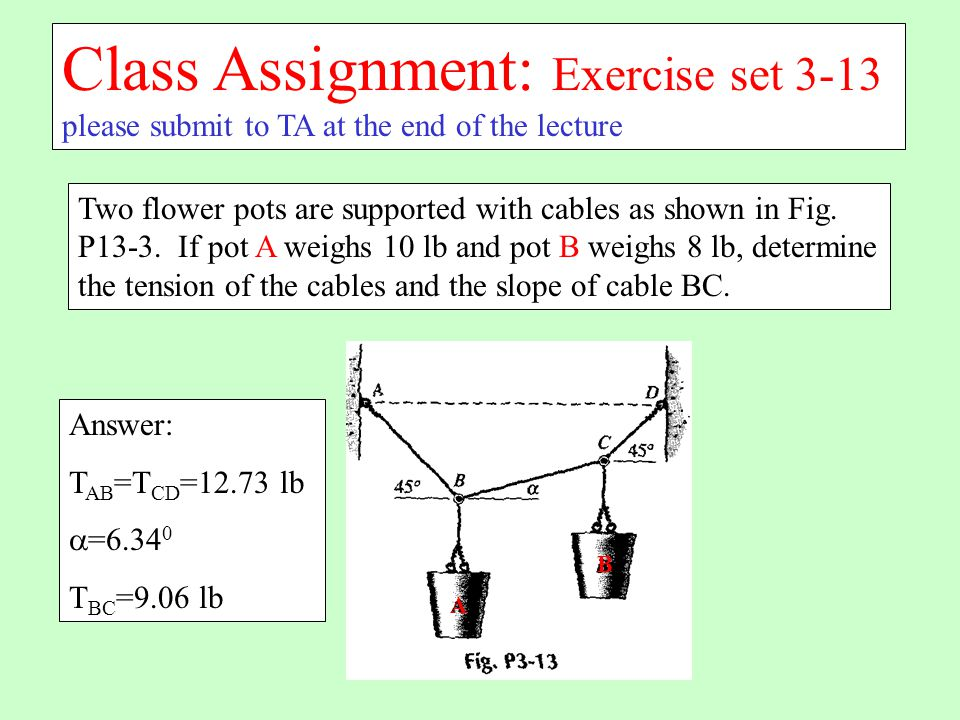 Class Assignment: Exercise set 3-13