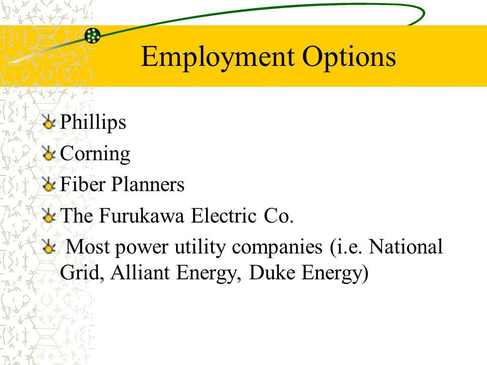 Employment Options Phillips Corning Fiber Planners