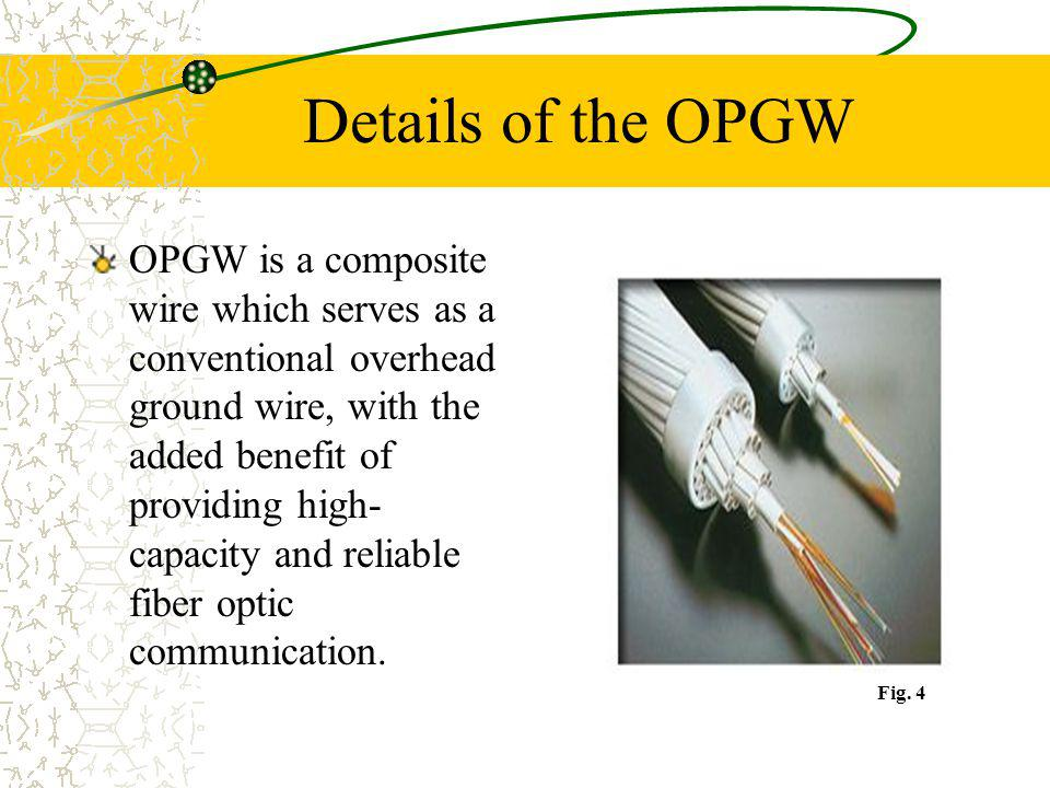 Details of the OPGW