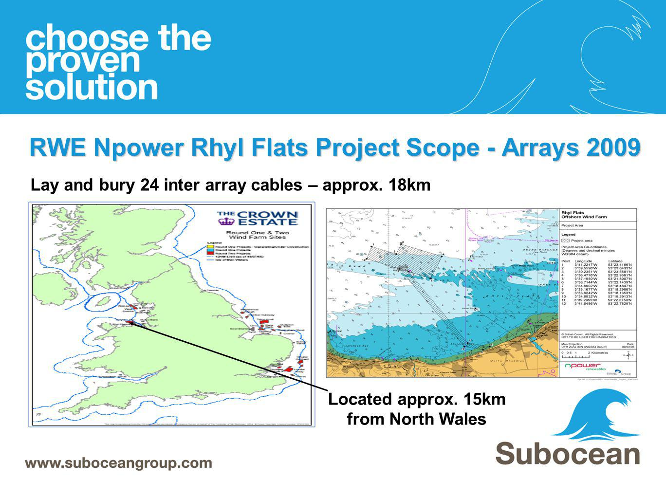 RWE Npower Rhyl Flats Project Scope - Arrays 2009
