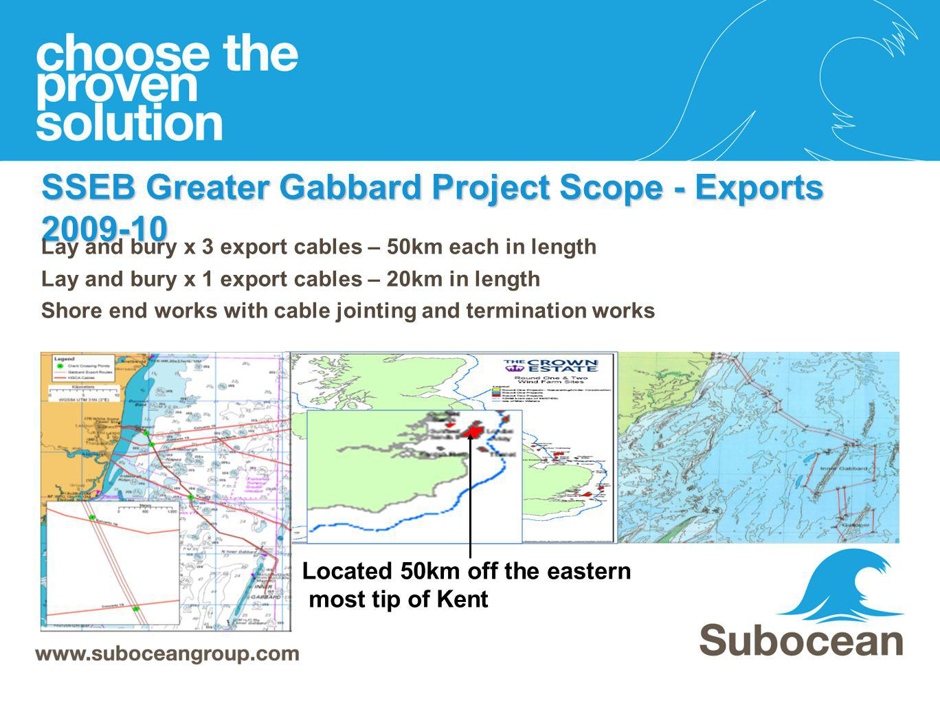 SSEB Greater Gabbard Project Scope - Exports 2009-10