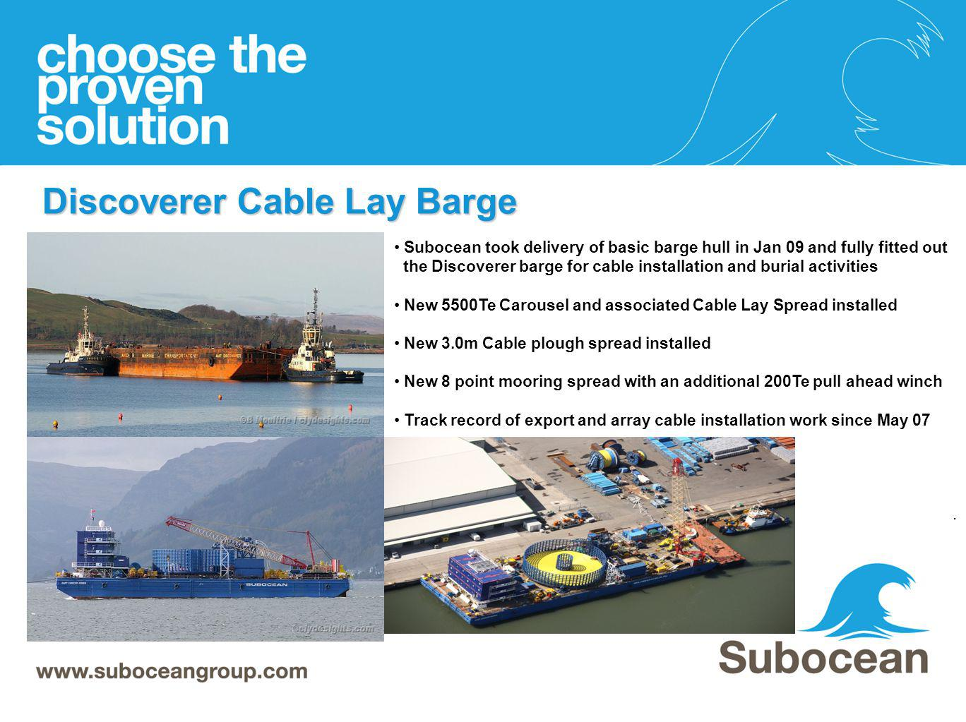 Discoverer Cable Lay Barge