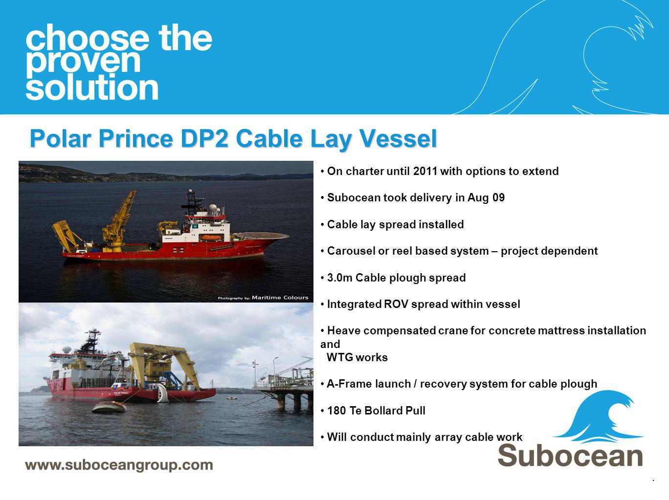 Polar Prince DP2 Cable Lay Vessel