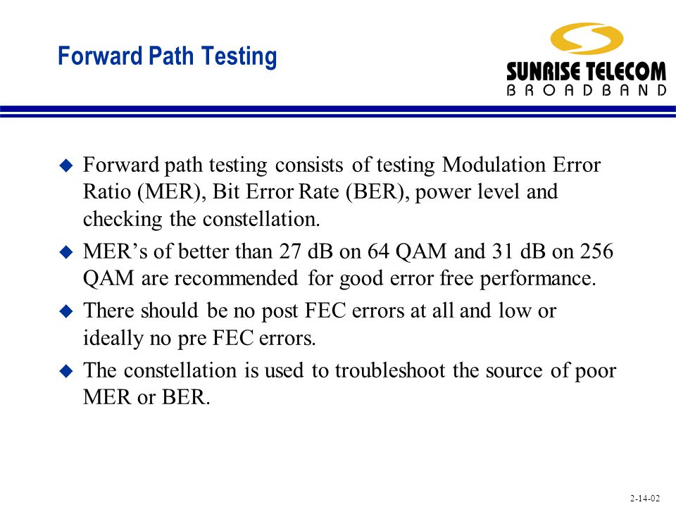Forward Path Testing