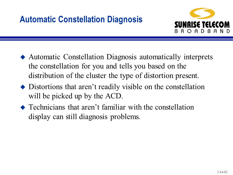 Automatic Constellation Diagnosis