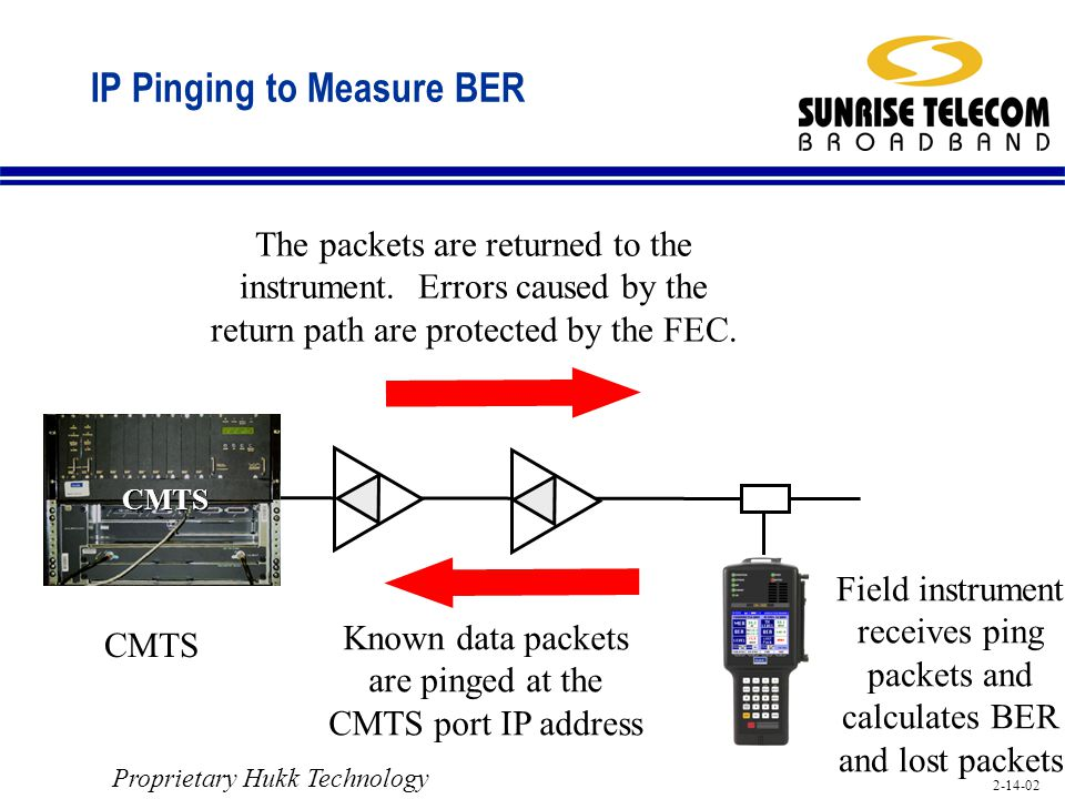 IP Pinging to Measure BER