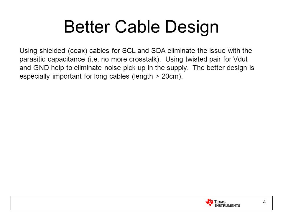 Better Cable Design