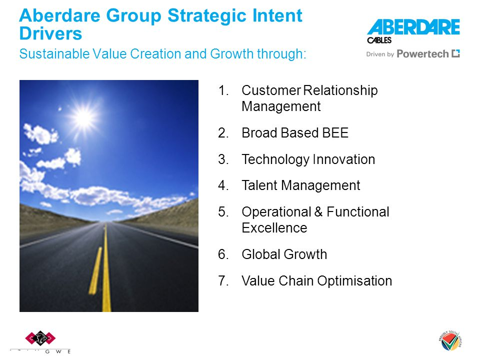 Aberdare Group Strategic Intent Drivers Sustainable Value Creation and Growth through: