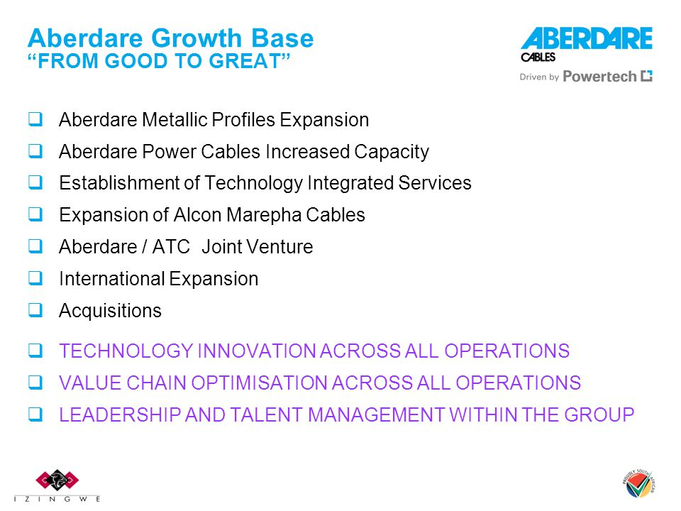 Aberdare Growth Base FROM GOOD TO GREAT