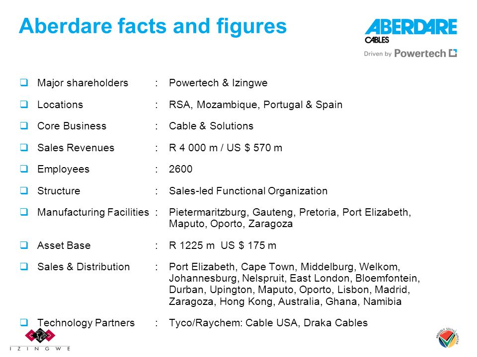 Aberdare facts and figures