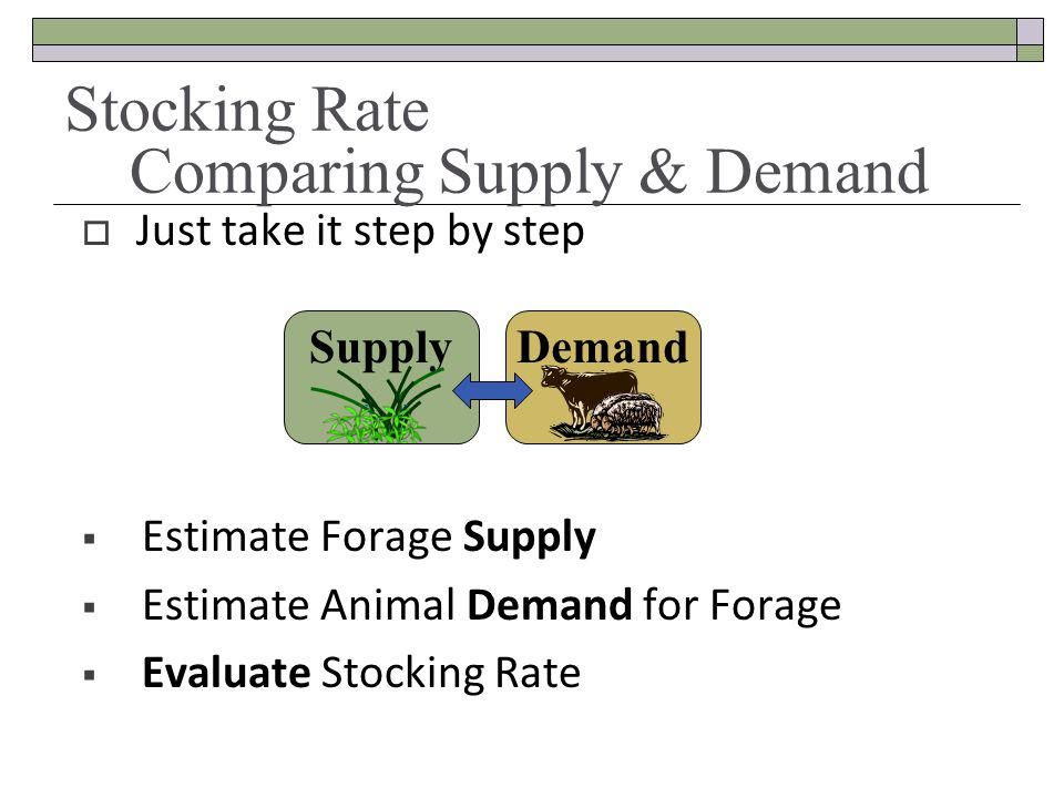 Stocking Rate Comparing Supply & Demand