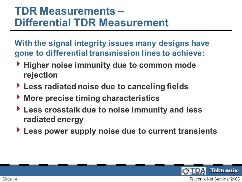 TDR Measurements – Differential TDR Measurement