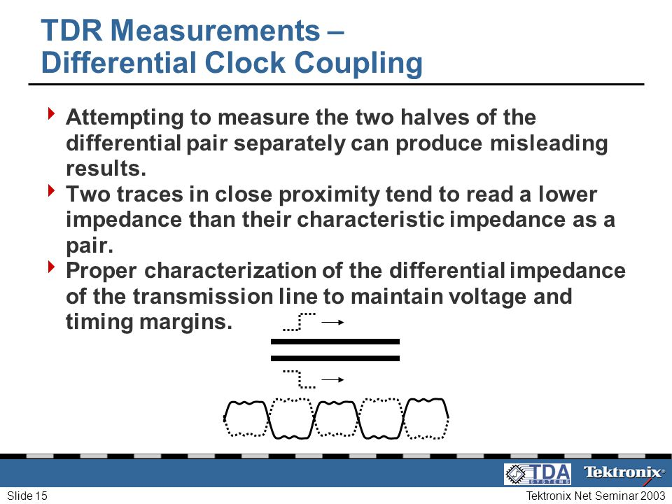 TDR Measurements – Differential Clock Coupling