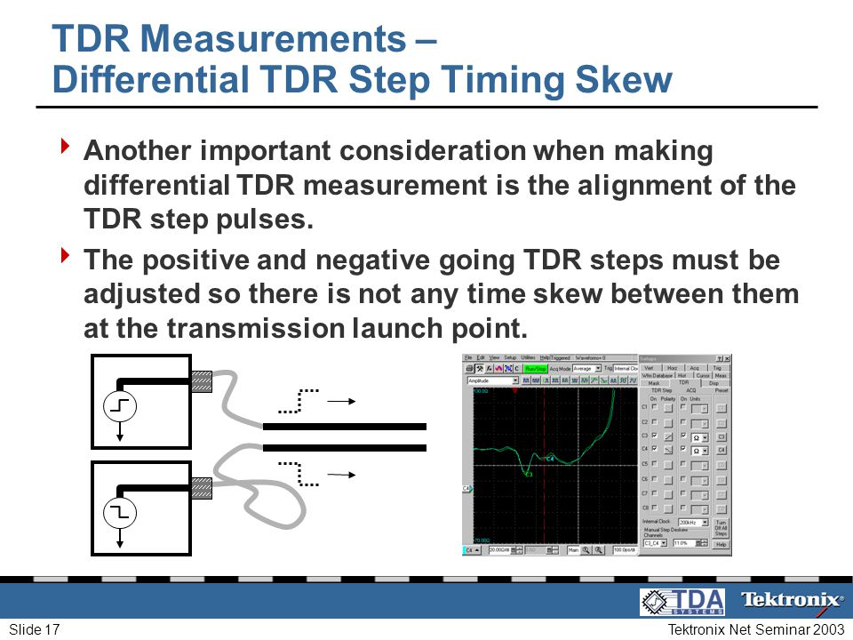 TDR Measurements – Differential TDR Step Timing Skew