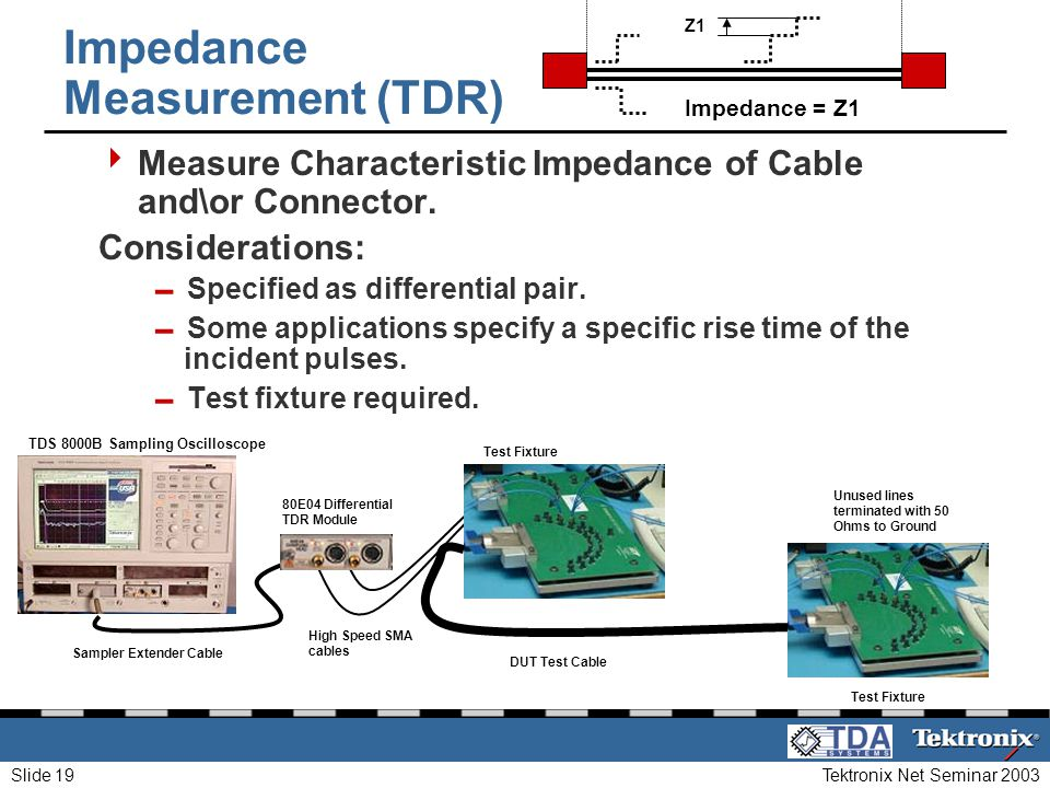 Impedance Measurement (TDR)