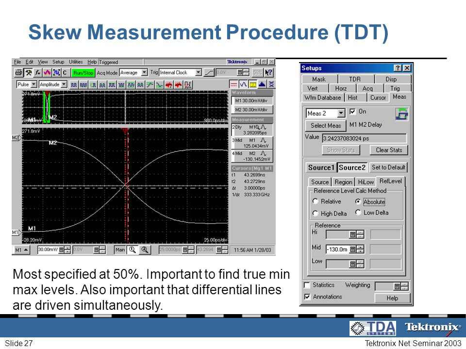 Skew Measurement Procedure (TDT)