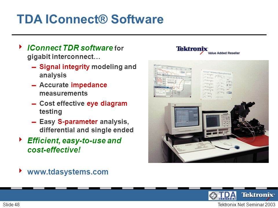 TDA IConnect® Software