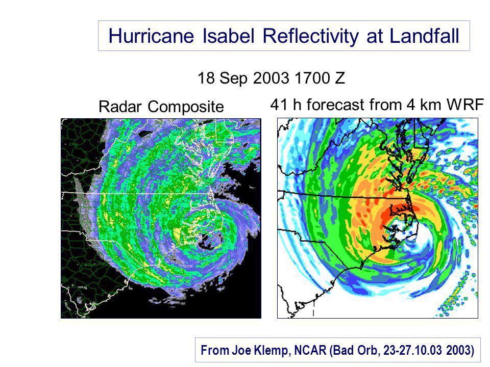 From Joe Klemp, NCAR (Bad Orb, 23-27.10.03 2003)