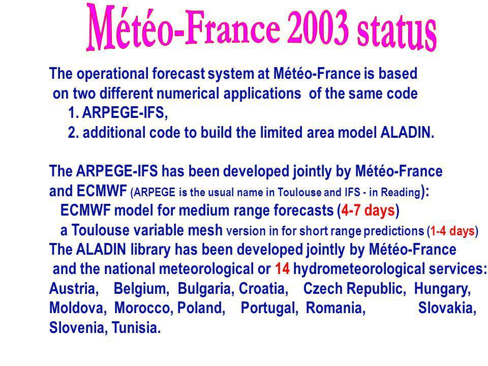 Météo-France 2003 status