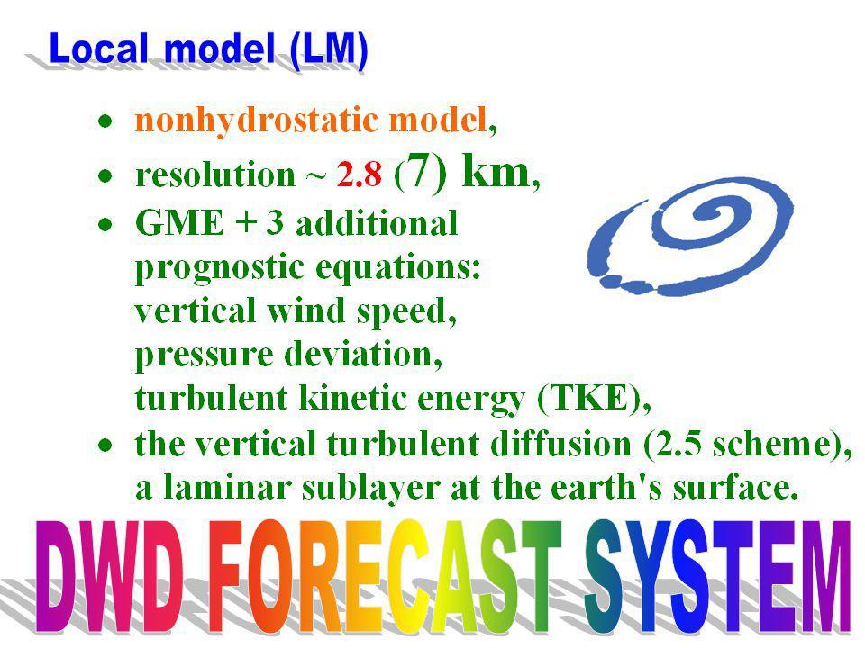 Local model (LM) DWD FORECAST SYSTEM
