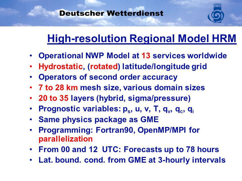 High-resolution Regional Model HRM