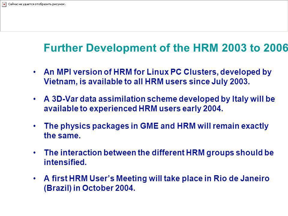 Further Development of the HRM 2003 to 2006