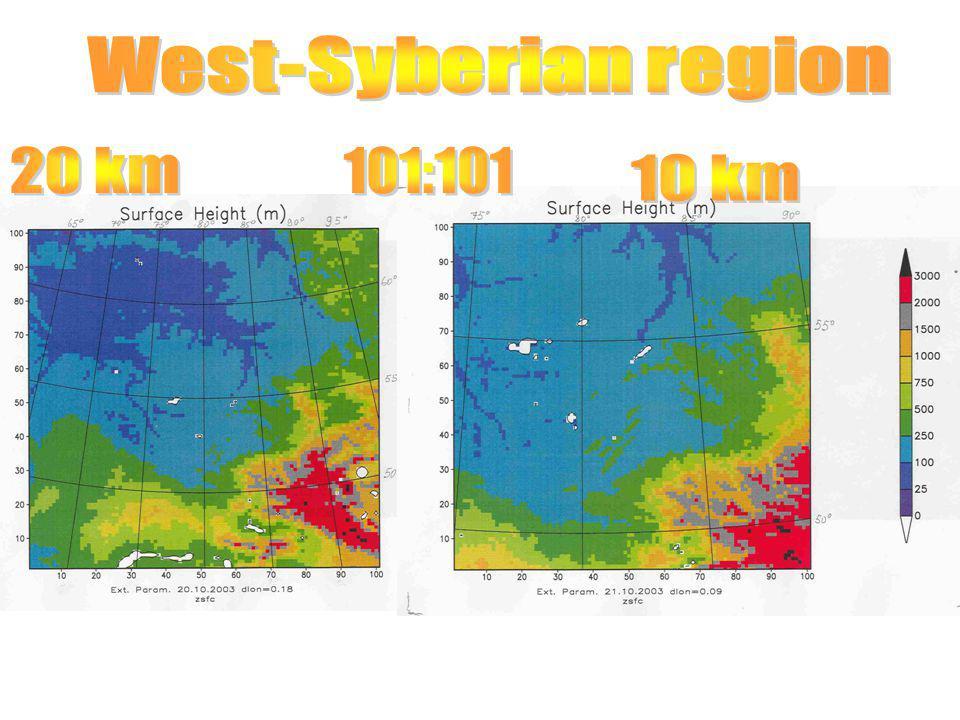 West-Syberian region 20 km 101:101 10 km