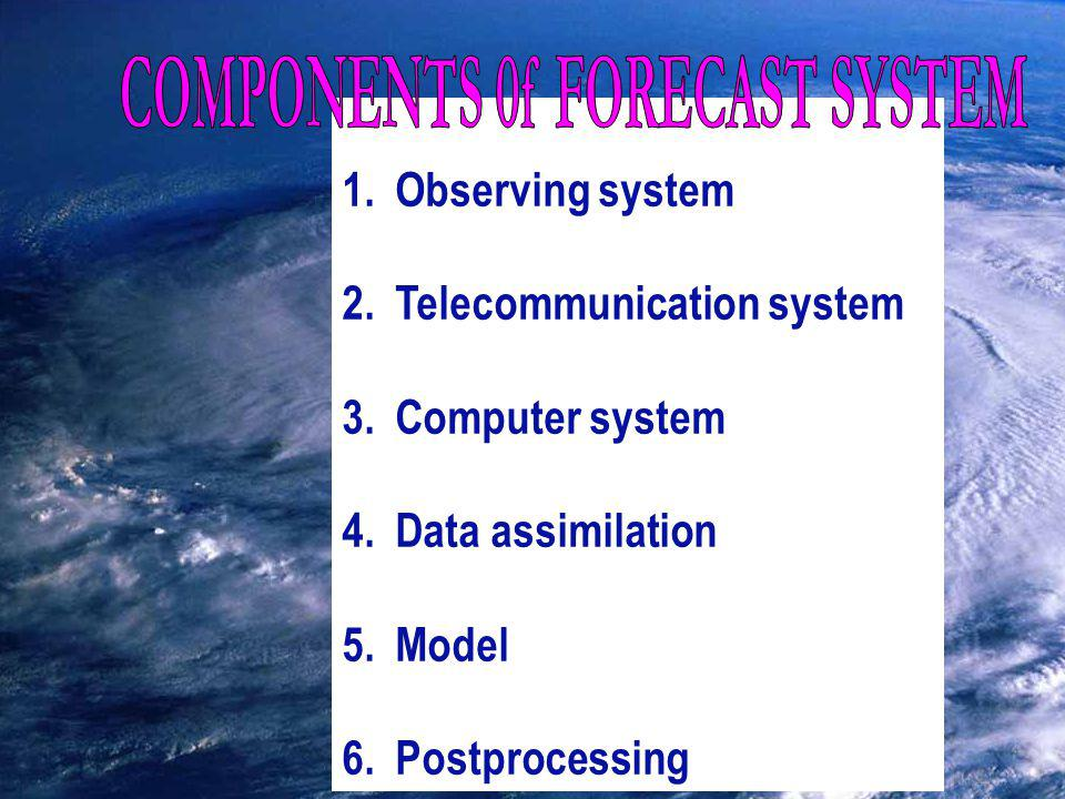 COMPONENTS of FORECAST SYSTEM