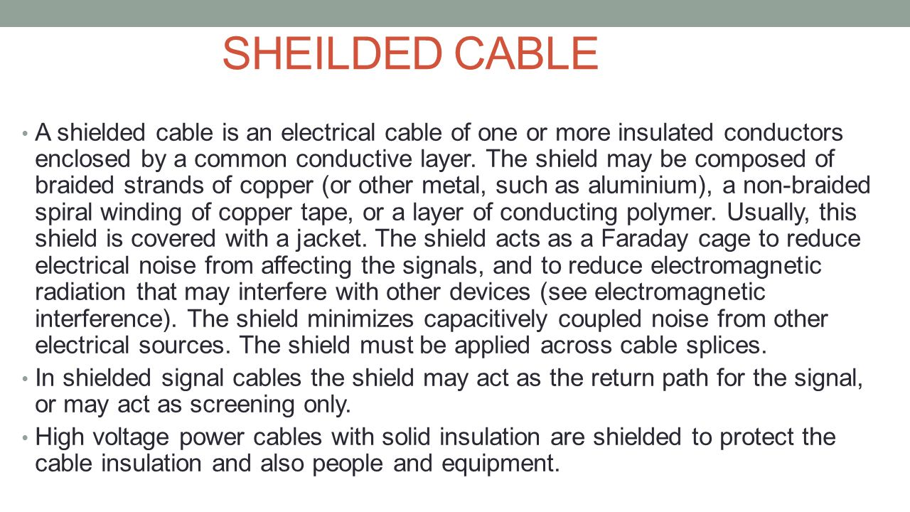 SHEILDED CABLE
