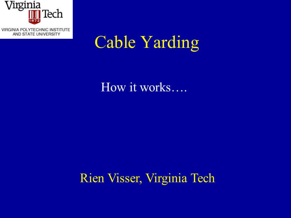 Rien Visser, Virginia Tech