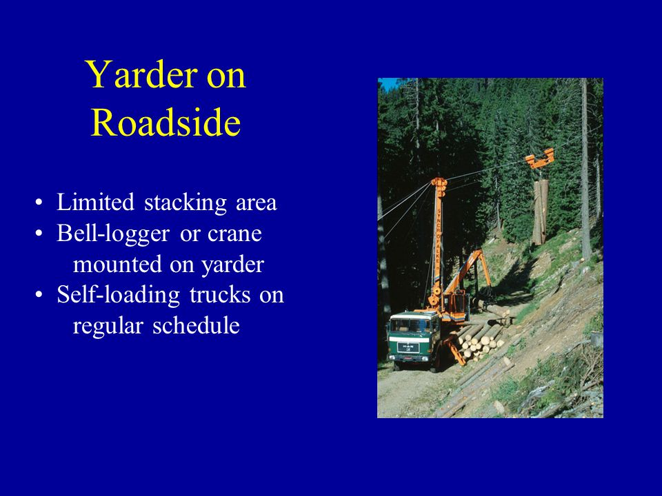 Yarder on Roadside Limited stacking area